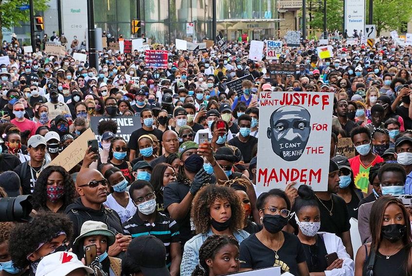 A Black Lives Matter protest held in Ottawa in June 2020. Jean Levac/Postmedia