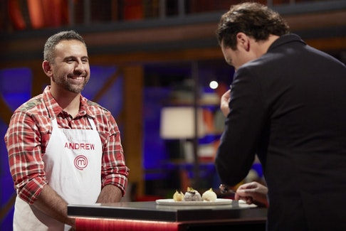 Halifax's Andrew Al-Khouri receives a positive grade on one of his desserts on a recent episode of MasterChef Canada - Back to Win. The aFrite restaurateur made it to the penultimate show, but did not continue on to the season finale with the final three, which includes Dartmouth chef Andy Hay.