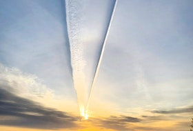 This stunning photo of jet contrails at sunrise was sent to us by Gail Westbrook of Lunenburg, N.S. 