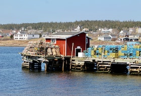 Ruth Boudreau sent this snapshot of lobster traps sitting on the wharf in Louisbourg, N.S. on April 25. 