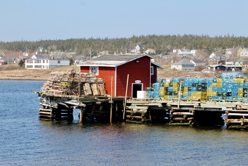 Ruth Boudreau sent this snapshot of lobster traps sitting on the wharf in Louisbourg, N.S. on April 25.  Lobster fishers throughout the Maritimes were busy preparing their traps to go out on setting day earlier this month.  High winds and stormy seas delayed the start of the lobster season by a few days, but fishers are out collecting one of Atlantic Canada's favourite delicacies.  Have you had your feed of lobster yet?  Thanks for this beautiful photo, Ruth.