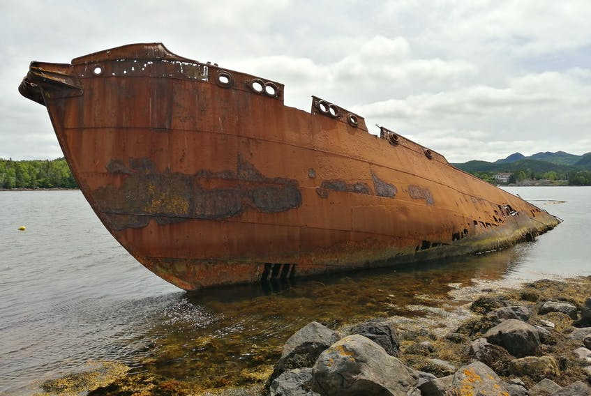Gary Mitchell sent this photo of the whaling ship the SS Charcot in Conception Harbour, N.L.  The ship has been beached in the harbour since 1970 when, during a storm, it broke its moorings and was pushed ashore where it remains to this day. While surveying the ship, divers discovered two more whaling vessels sunken on the seafloor behind the Charcot - the SS Southern and the SS Sukha.  Thank you, Gary, for this photo.