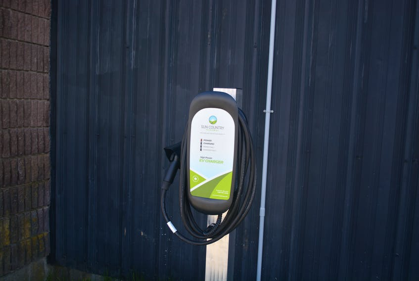This electric vehicle charging station located in front of the Bay Arena in Bay Roberts is believed to be the first such station in Conception Bay North.