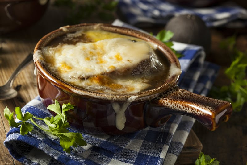 An interest in thrifting may have increased in French onion soup among the millennial and Gen Z set. After more of the retro serving bowls started popping up in thrift stores, interest in the dish that was popular in the 1970s and 1980s started making its comeback, says Chef Ilona Daniel. - RF Stock