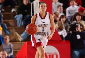 Whitney Ffrench, who hails from New Minas, played four seasons (2003-07) with St. Joseph's University in Philadelphia. - St. Joseph's Athletics
