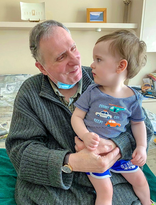 Sanford Cohen with his great-grandson in Richmond, B.C. CONTRIBUTED