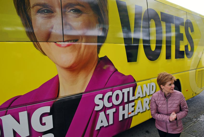 Scotland's First Minister, Nicola Sturgeon, says her party's modest election success last week justifies a second referendum on independence. But voters are split 50-50 on the topic — hardly enough support to justify a second vote, Gwynne Dyer suggests. — Reuters file photo