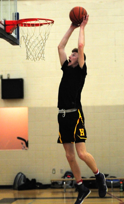 Standout Horton Griffins athlete Kaj MacVicar goes hard to the hoop. - Contributed