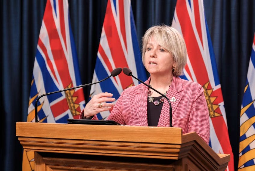 VICTORIA, B.C.: March 18, 2021 -- Premier John Horgan, Adrian Dix, Minister of Health, Dr. Bonnie Henry, Provincial Health Officer, and Dr. Penny Ballem, executive lead for B.C.'s immunization plan, announce that more than 400,000 people in British Columbia will be immunized from March to early April as the Province moves into Phase 2 of the largest immunization rollout in B.C.'s history. Photo Don Craig / B.C. Government   Learn more: https://news.gov.bc.ca/releases/2021PREM0015-000355 [PNG Merlin Archive]