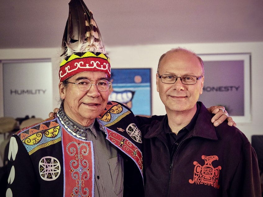 Stephen Augustine is a heredity chief of the Mi'kmaw Grand Council, Sante' Mawio'mi in Mi'kmaq, and sits on the board of directors of Friends United. He is pictured with Rolf Bouman, originally from Germany and founder of the Friends United initiative. CONTRIBUTED - Ardelle Reynolds