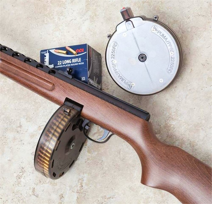 When Halifax Regional Police searched the black Mazda Tribute they found a .22 caliber, semi-automatic weapon, with two magazines – one described as a 50-round capacity drum magazine, the second described as a 30-round capacity banana magazine. - Submitted