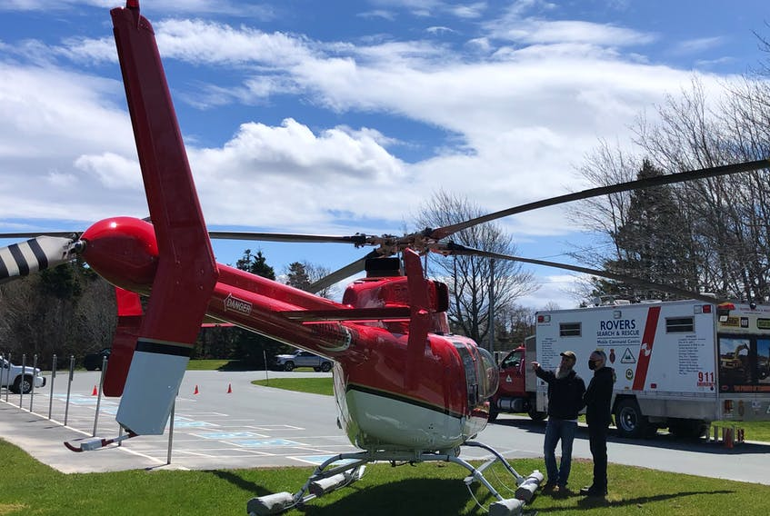 A Provincial Helicopters chopper and Rovers Ground Search and Rescue assisted in Wednesday's search at Bowring Park in St. John's.