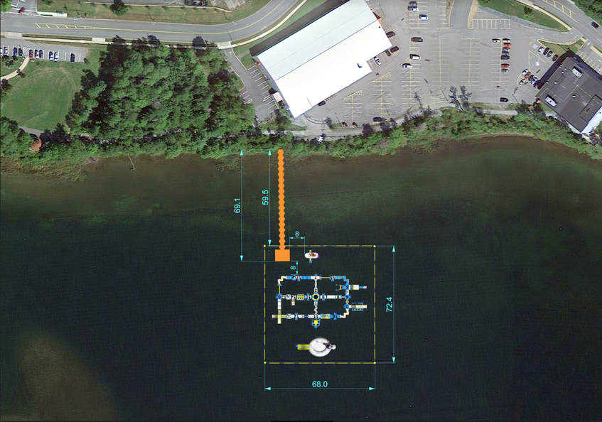 Splashifax, a floating obstacle course and playground, plans to inflate this set up on First Lake in Lower Sackville in mid-June. - Contributed by Splashifax
