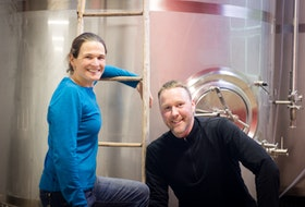 Annapolis Cider Company owners Sean Myles and Gina Haverstock are seen in this photo from 2016.
