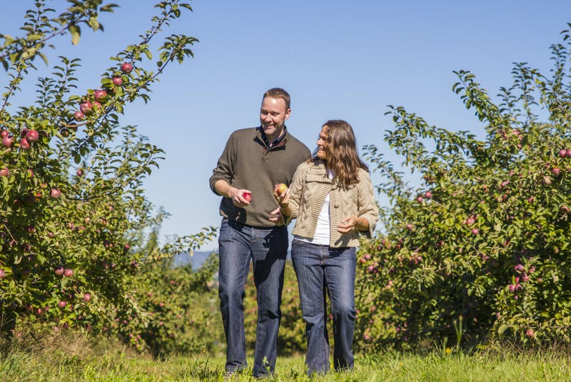 Annapolis Cider Company owners Sean Myles and Gina Haverstock are seen in this photo from 2016. - Contributed