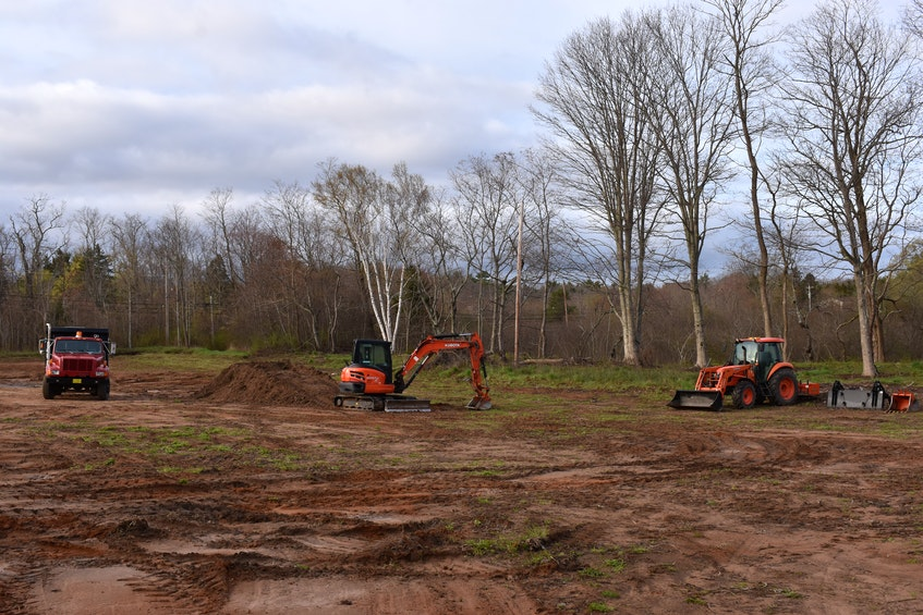Scott Bishop has already started working on the land across from the Paragon in Kingston. – Ashley Thompson