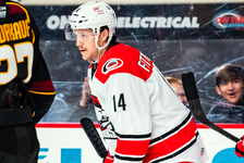 Defenceman Cavan Fitzgerald played for the AHL's Charlotte Checkers in 2019-20. - NHL