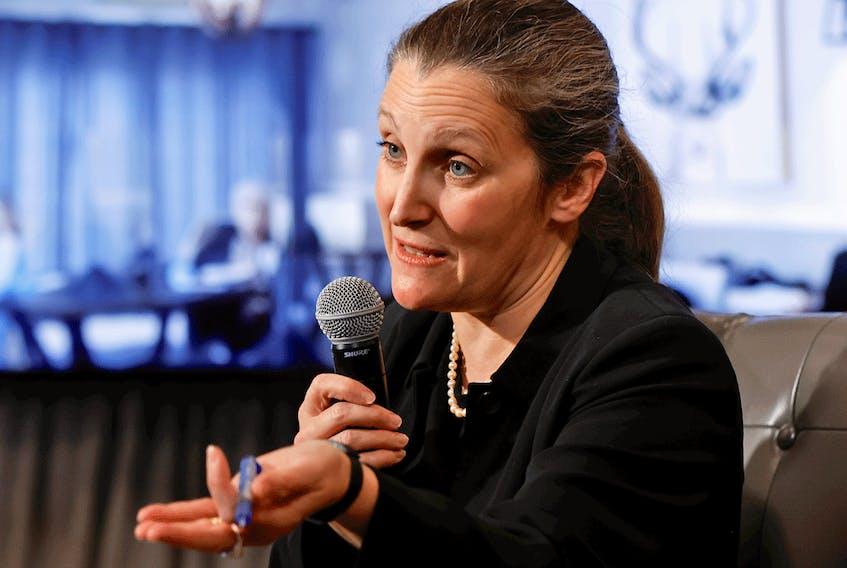Finance Minister Chrystia Freeland.