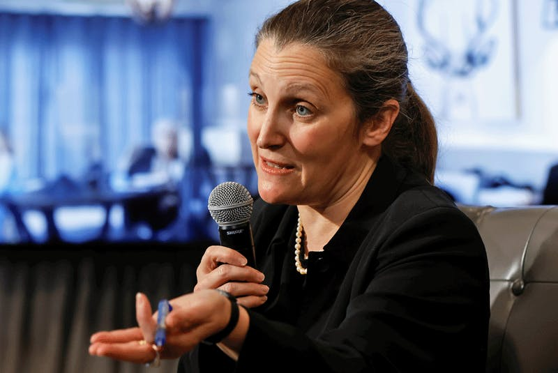 Finance Minister Chrystia Freeland. - Blair  Gable/Reuters/File