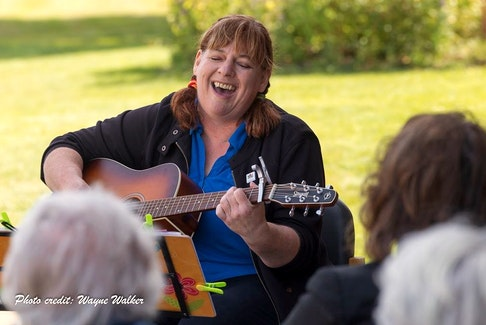 Donna Holmes, from Wolfville, N.S. says she didn't realize how much of her time and joy came from being with her community, where she often performed music. As an extrovert, she says she feels like she is failing during the pandemic.