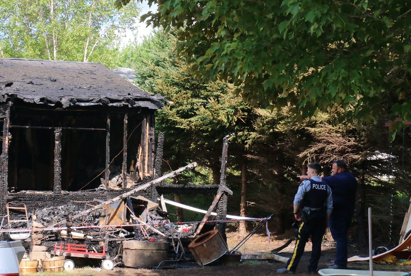 The Boddie house, located in the 300 block of Panuke Road in Three Mile Plains, was still standing but badly damaged after a fire started at the front of the home during the wee morning hours of Aug. 6, 2020.
