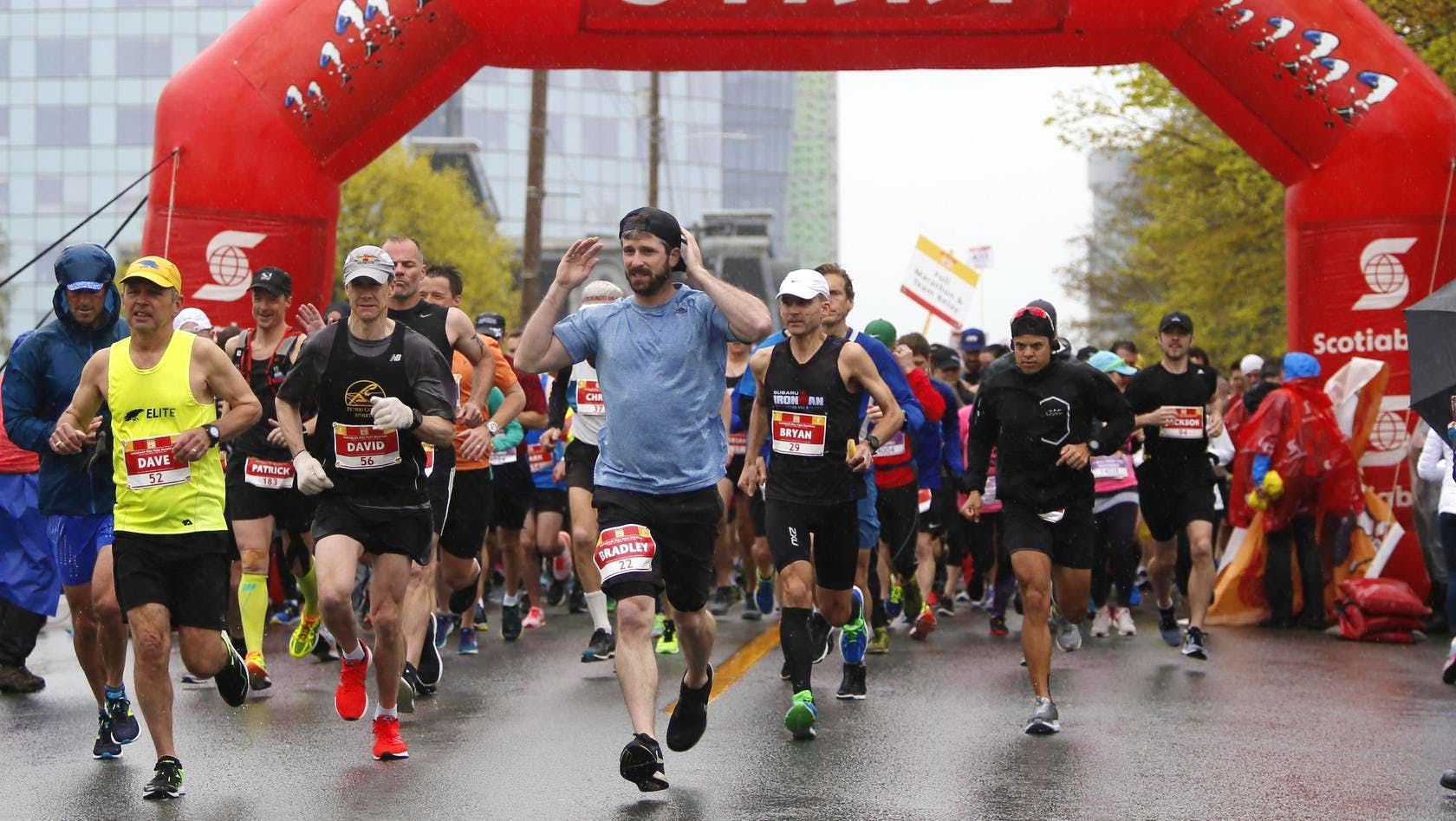 Runners take off at the start of the full marathon at the Scotiabank Blue Nose Marathon in Halifax on May 20, 2018. - Tim Krochak / The Chronicle Herald