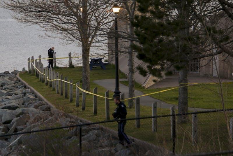 Halifax Regional Police secure the area after a shooting at Alderney Landing. - Tim Krochak