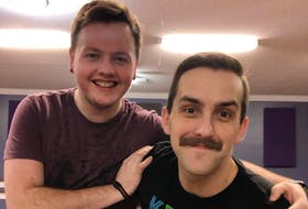 """Josh Connors (right) brings queer stories to life. His latest work, """"The Repercussions of Awkward Small Talk,"""" opens its weekend run at the Rotary Arts Centre in Corner Brook Friday night. Connors stars in the play with his partner, Daniel Tucker."""