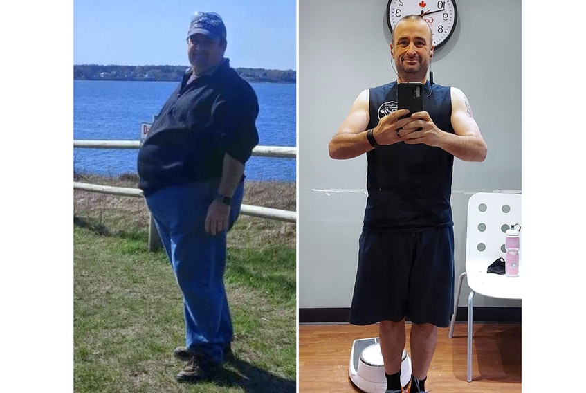 In less than a year Don Gunton lost 110 pounds.