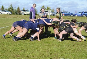The Bluefield Bobcats hosted the Three Oaks Axewomen Wednesday in Prince Edward Island School Athletic Association senior AAA rugby action.