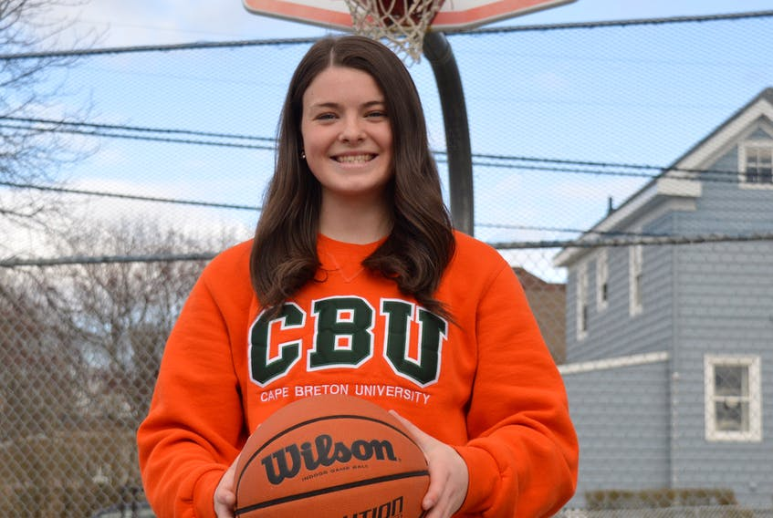 Christina Thomas will take her basketball talents to Cape Breton University for the 2021-22 Atlantic University Sport basketball season. The North Sydney product recently committed to CBU and is hopeful to follow in the footsteps of other local talent who have played with the Capers in the past. JEREMY FRASER • CAPE BRETON POST