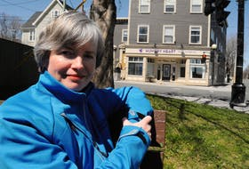 Stella's Circle CEO Lisa Browne at Rawlin's Cross in St. John's on Wednesday afternoon. Joe Gibbons • The Telegram