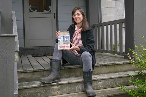 FOR COOKE STORY: Veronica Post recently won a major Canadian comics award for her graphic novel, 'Langosh & Pepi: Fugitive Days....she is seen in front of her Halifax home Wednesday May 12, 2021.   TIM KROCHAK PHOTO