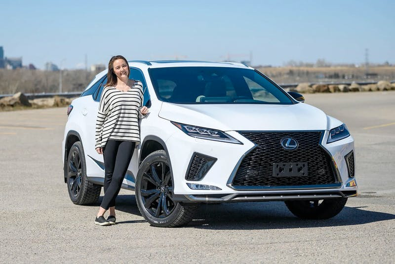 Dionne Dillabaugh with the 2021 Lexus RX350 she and her family tested out for a week in and around Calgary. Christopher Landry/Postmedia News - POSTMEDIA
