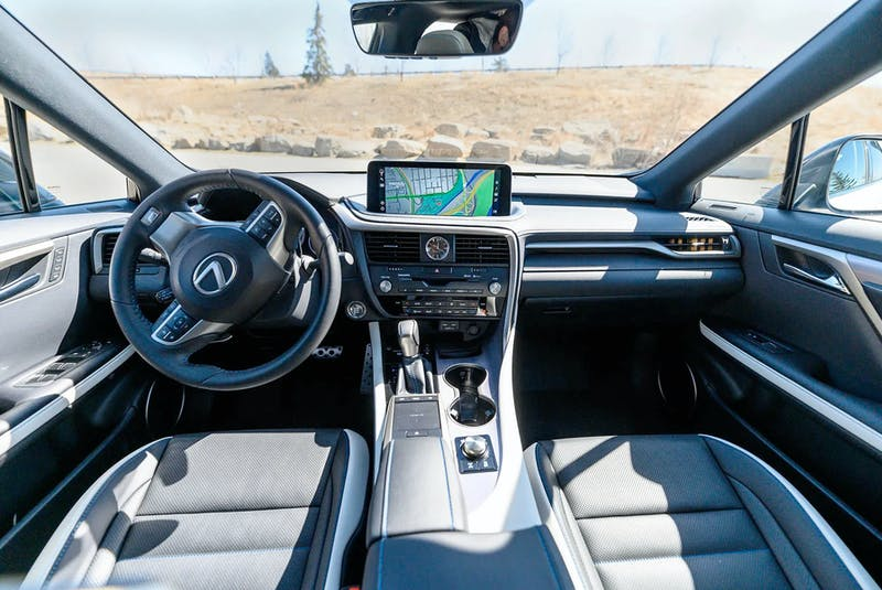 The interior of the 2021 Lexus RX350 Black Line Edition speaks luxury. Christopher Landry/Postmedia News - POSTMEDIA