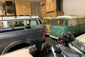 Volkswagen vans waiting to be loaded in a container for overseas. Alyn Edwards/Postmedia News