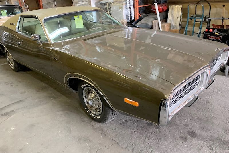 A restored Dodge Charger is ready to be sent to its overseas buyer. Alyn Edwards/Postmedia News - POSTMEDIA