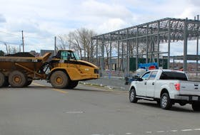 Work continues on the construction of a new Nova Scotia Community College campus in downtown Sydney that is not expected to open until September 2024. The cost for detailed design and development, including site preparation and land acquisition, was about $18 million. There were some minor traffic delays this week as workers ferried soil from a site on Falmouth Street across the Esplanade to the construction site. CAPE BRETON POST PHOTO