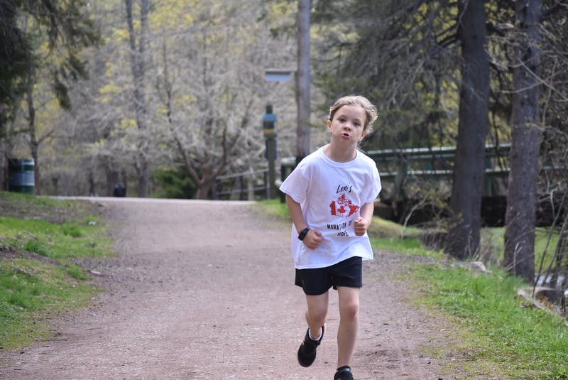 Running in the shadow of her hero, Terry Fox, Lexi Barbour, 6, of Truro has embarked on her own Marathon of Hope in an effort to raise money for cancer research at the IWK. - Harry Sullivan
