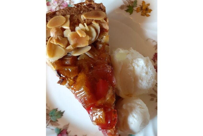 This is Margaret Prouse's version of Rhubarb Kuchen, using one of the earliest fresh flavours of spring.