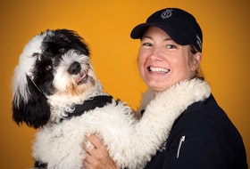 Stella, a Portuguese water dog, and her handler, Const. Krista Fagan, have spent the past year training together. Stella is poised to become the Royal Newfoundland Constabulary's first support dog. - Pat Thompson photo