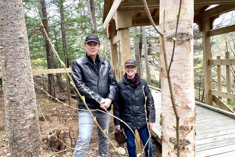 Geoff Kearley and Elizabeth Kearley are members of the Chamberlains Park Action Committee, which played a key role in creating the park, located on Route 60 in Conception Bay South. The trail sees hundreds of people walk on it every week. — Rosie Mullaley