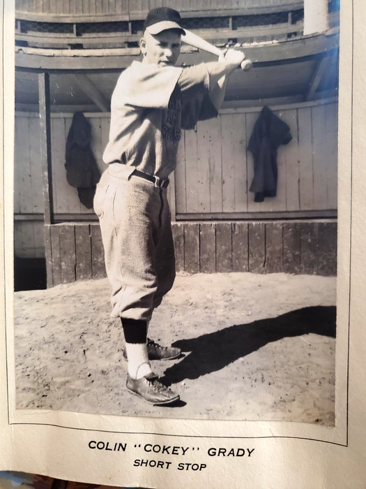 Colin (Coke) Grady pictured in 1952 as a member of the Prince Edward Island-champion Curran and Briggs Juniors. Grady, who played shortstop, died on Wednesday. - Contributed