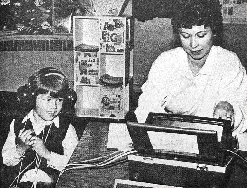 In 1986, as part of a program aimed at introducing four-year-old children to what school will be like in the fall, free hearing tests were conducted. - File Photo