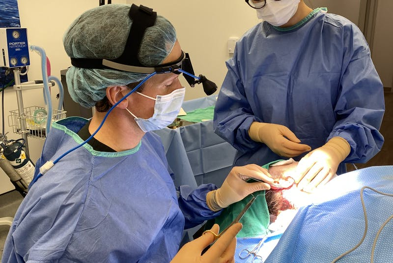 Registered nurse Julia MacDonald assists during a surgery. When she finishes her nurse practitioner program, she could work in any number of health-care fields. — Contributed
