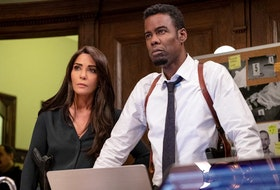 Marisol Nichols and Chris Rock in Spiral: From the Book of Saw.