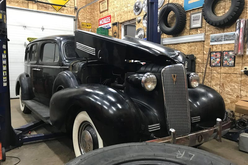 Josh Noiles, of Hants County, N.S., purchased this 1937 Cadillac Series 75 Fleetwood from a previous owner from Calgary. Noiles said this vehicle was a built-to-order limousine owned by a wealthy timber baron from the Ottawa Valley.   - Contributed