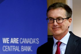 Bank of Canada governor Tiff Macklem arrives at a news conference in Ottawa. REUTERS/Blair Gable/File Photo