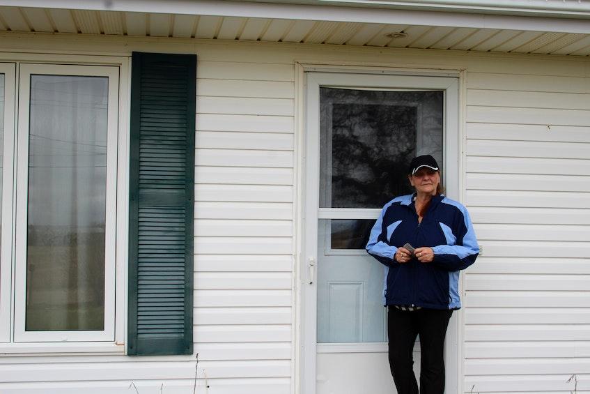 Eileen Jay stands outside of her former apartment on Dekker Street, in Summerside. - Kristin Gardiner