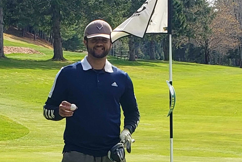 Phil Davis of Wolfville, an avid golfer and member at the Ken Wo Golf and Country Club in New Minas, recently scored a rare albatross. CONTRIBUTED